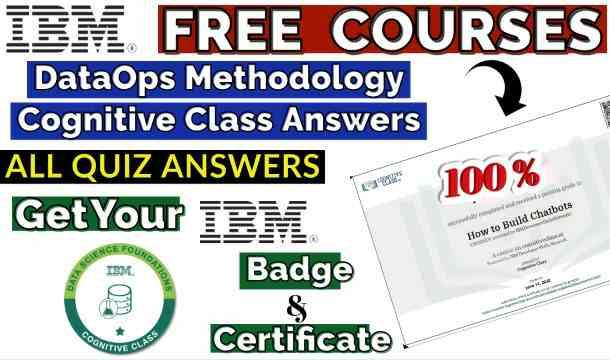 DataOps Methodology Cognitive Class Quiz Answers(🔰Trending)