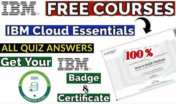 IBM Cloud Essentials - V3 Cognitive Class Course Answer(💯Correct)