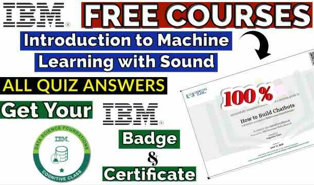 Introduction to Machine Learning with Sound Cognitive Class Course[Trending‼️]